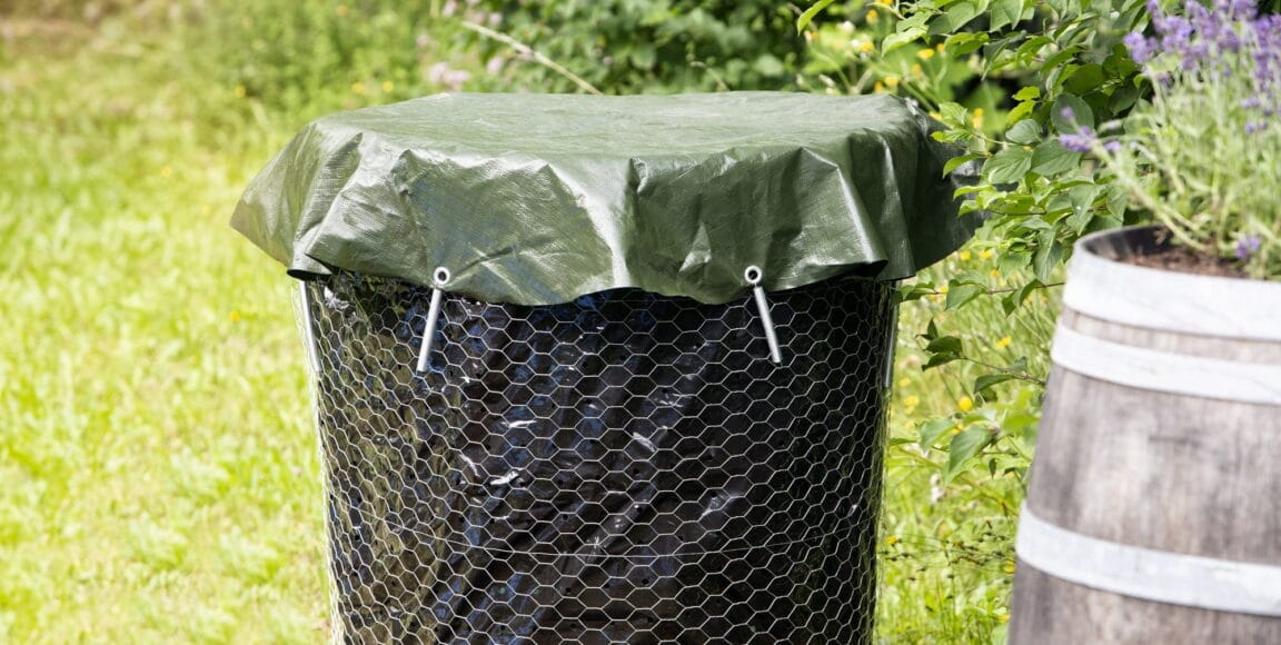 compost bin with cover