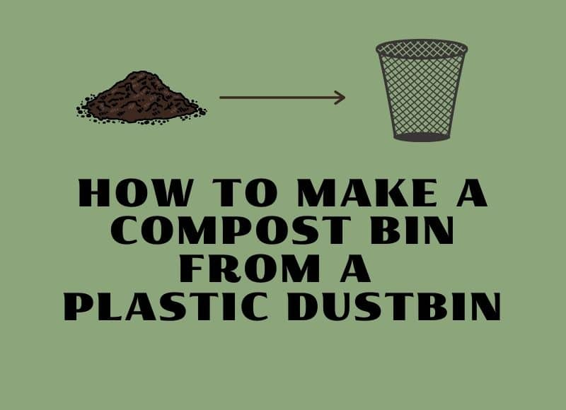 how to make a compost bin from a plastic dustbin